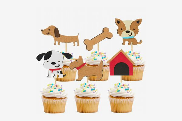 iMagitek Dog Cupcake Toppers, 24 Pieces