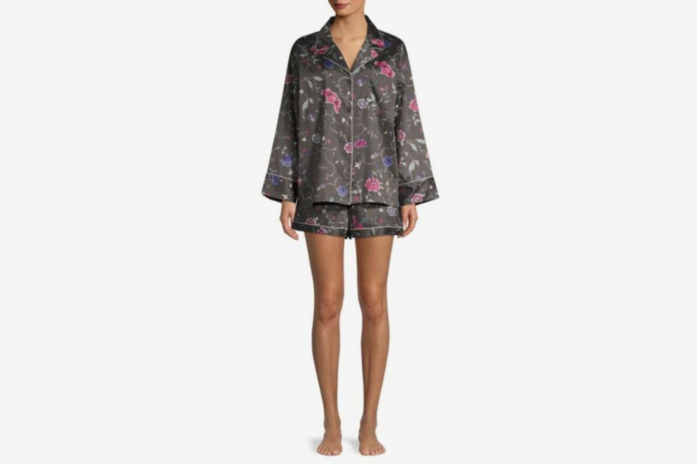 Natori Hana Floral Silk Two-Piece Sleep Set 67d3d2acf
