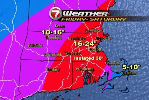 Weather Map Boston New York City Will Not Get 38 Inches of Snow [Updated]