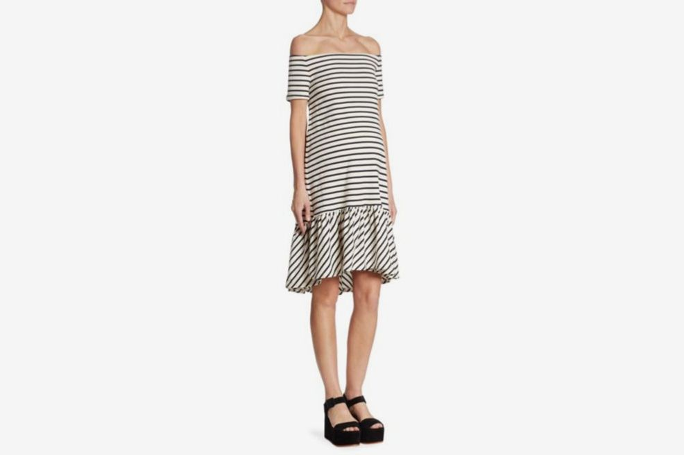 Hatch Harbor Off-The-Shoulder Dress