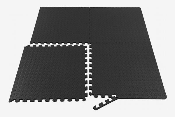 ProsourceFit Puzzle Exercise Mat, EVA Foam Interlocking Tiles, 1/2-Inch Thick (6 Tiles, 24 sqft)