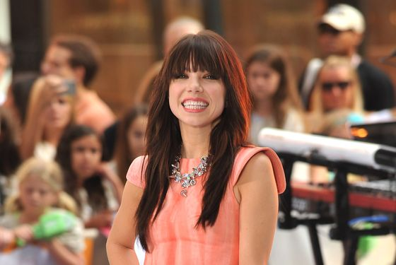 "NEW YORK, NY - AUGUST 23:  Carly Rae Jepsen performs on NBC's ""Today"" at Rockefeller Plaza on August 23, 2012 in New York City.  (Photo by Theo Wargo/Getty Images)"