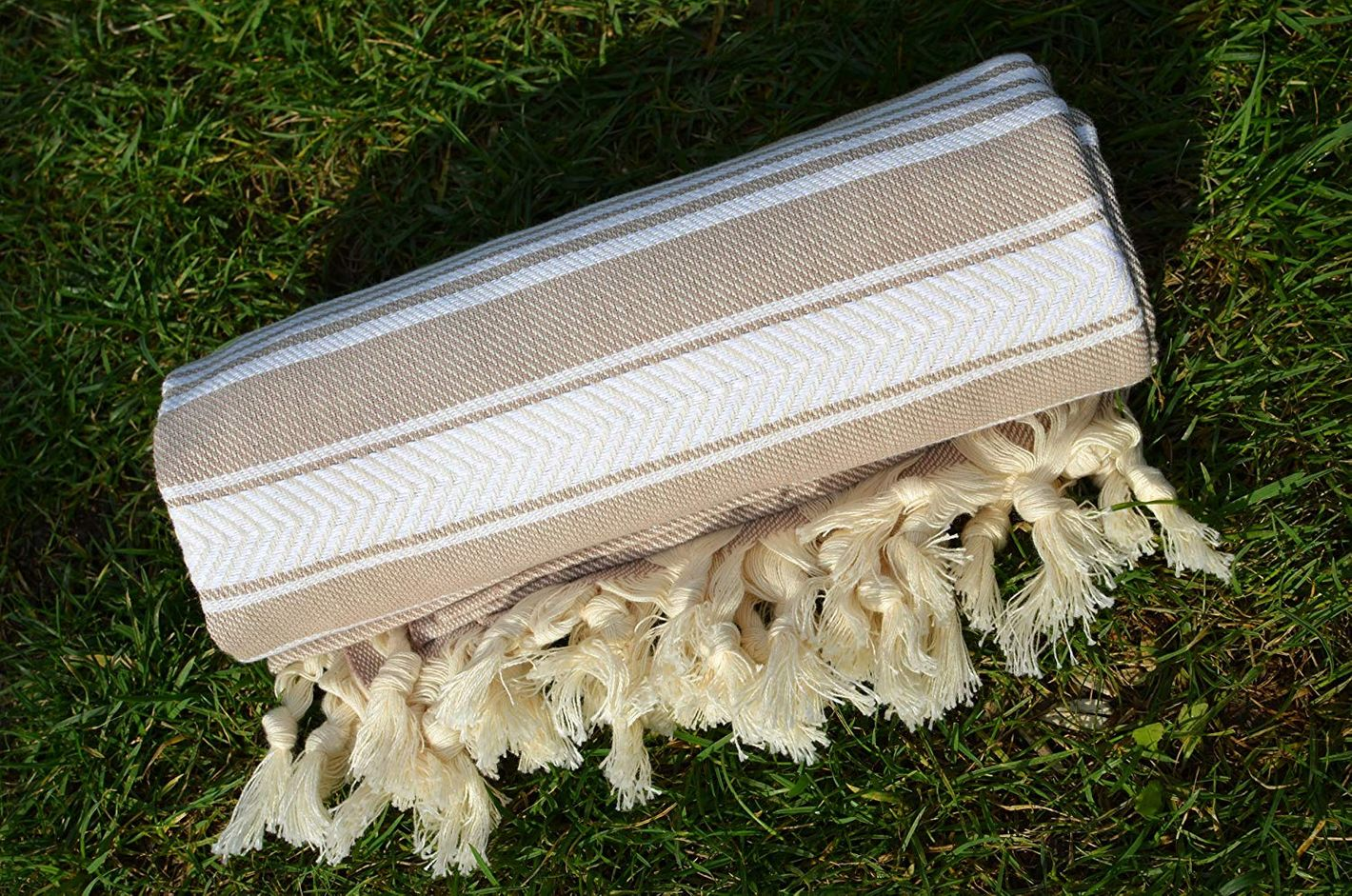Dandelion Textile Naturally-Dyed Cotton Turkish Towel Peshtemal