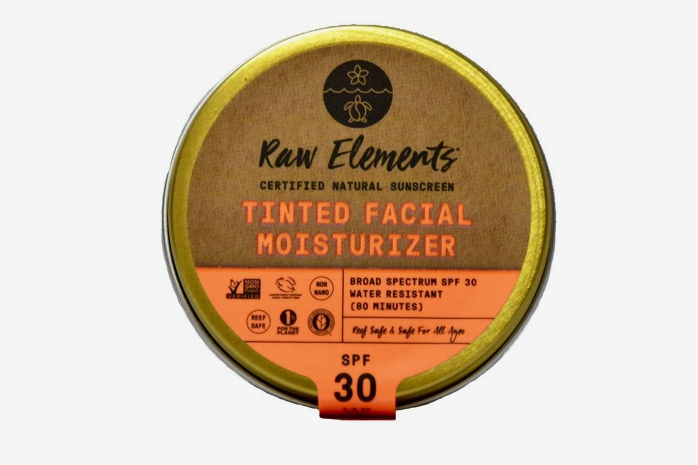 Raw Elements Tinted Facial Moisturizer Certified Natural Sunscreen