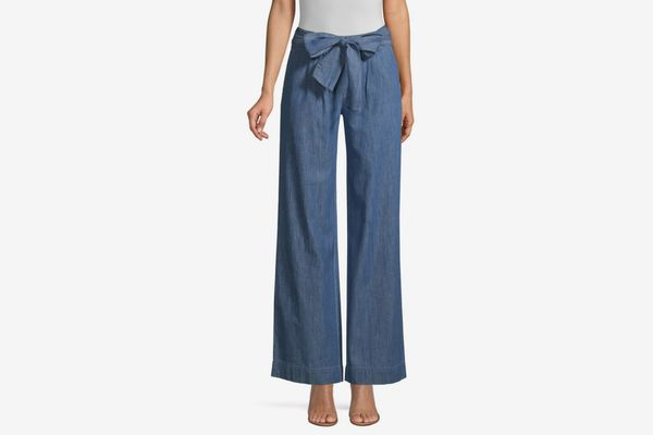 Draper James Wide Leg Chambray Pants
