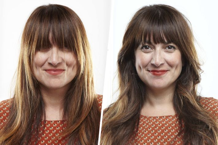 Photos: How to Cut Your Own Bangs