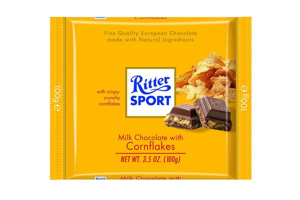 Ritter Sport Milk Chocolate with Cornflakes (Pack of 10)