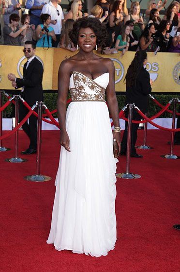 Celebrities arriving at the Screen Actors Guild Awards 2012 held at the Shrine Auditorium in Los Angeles, CA. <P> Pictured: Viola Davis <P><B>Ref: SPL355281  290112  </B><BR/> Picture by: Nate Beckett / Splash News<BR/> </P><P> <B>Splash News and Pictures</B><BR/> Los Angeles:310-821-2666<BR/> New York:212-619-2666<BR/> London:870-934-2666<BR/> photodesk@splashnews.com<BR/> </P>
