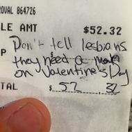 A Lesbian Couple Used Their Receipt to Confront a Sexist Chef