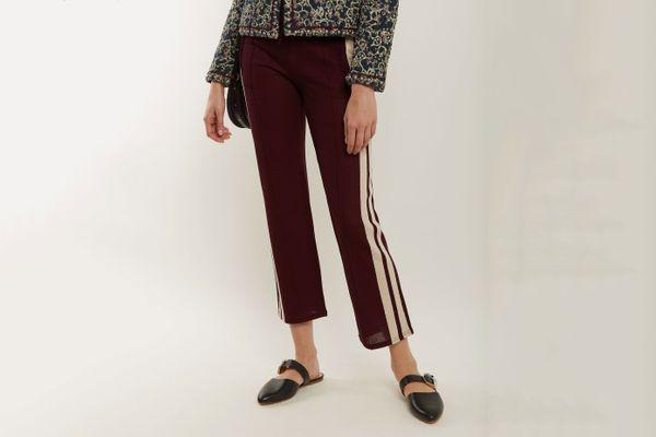 Isabel Marant Dobbs Stripe-Trimmed Track Pants
