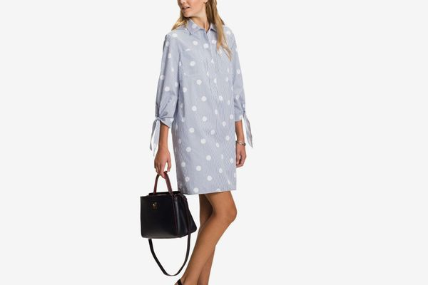 Tommy Hilfiger Tie-Sleeve Shirt Dress