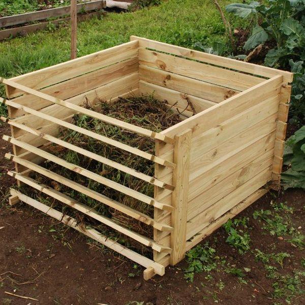 Easy-Load Wooden Compost Bin (Medium, 530L)