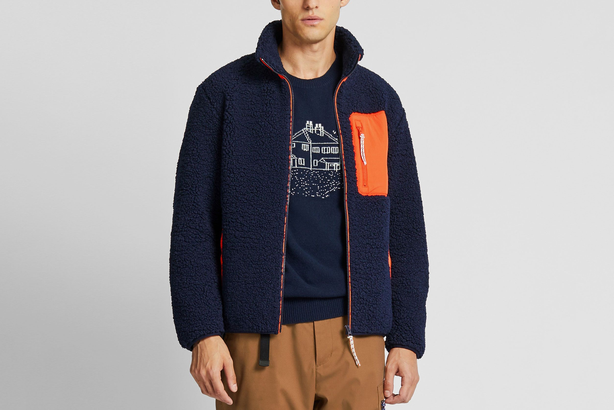 Uniqlo X JW Anderson Windproof Pile-Lined Fleece Full-Zip Jacket