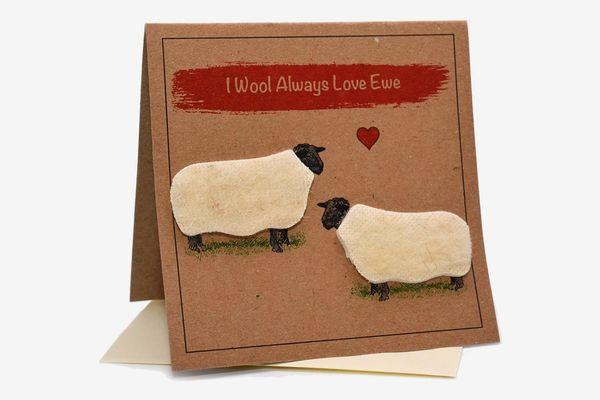 Sheep (I Wool Always Love EWE) Card