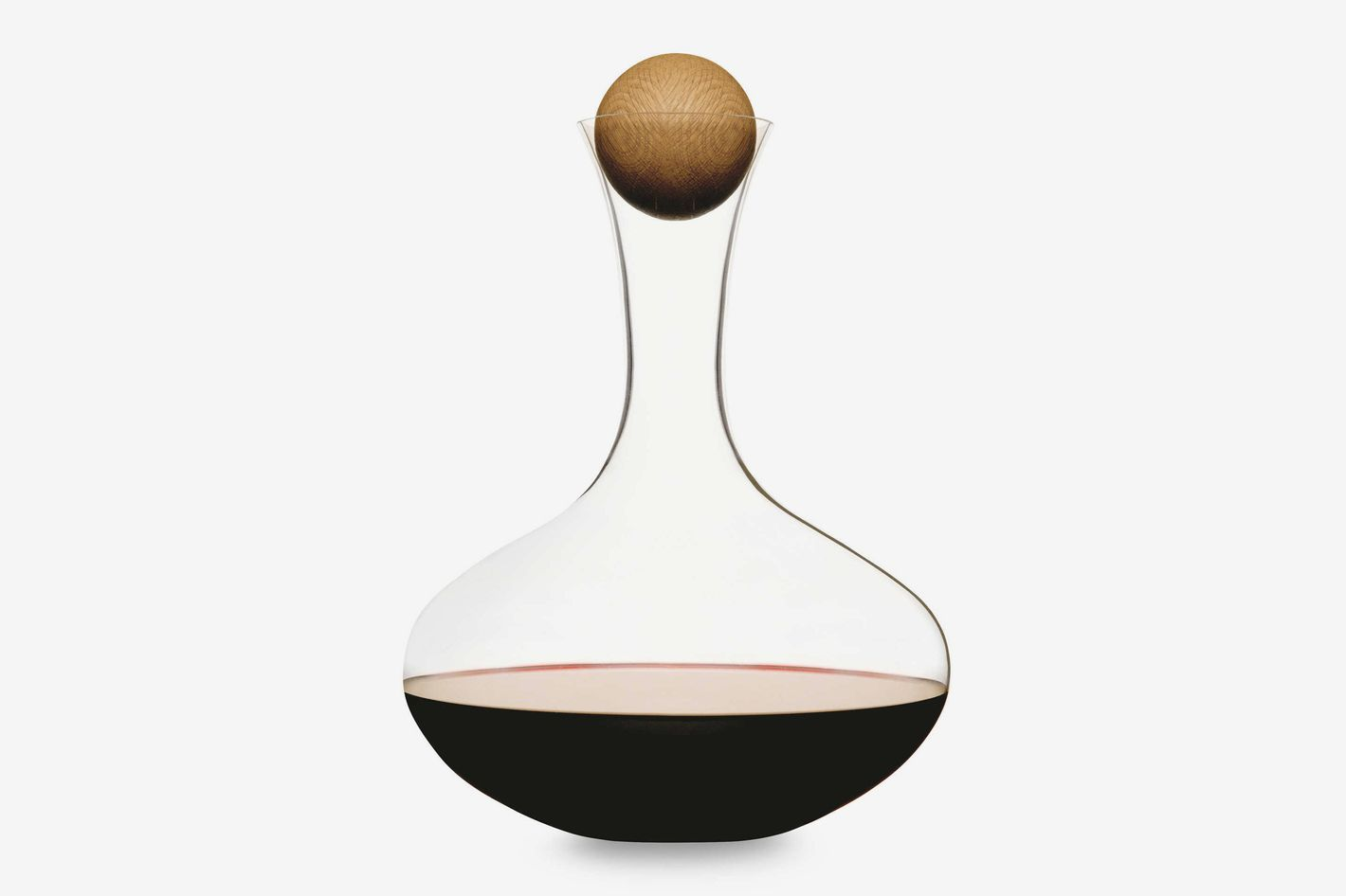 Sagaform Hand-Blown Glass Wine Decanter With Stopper