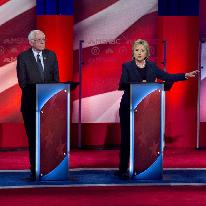 MSNBC Sponsors The Fifth Democratic Presidential Candidate Debate Between Hillary Clinton And Bernie Sanders