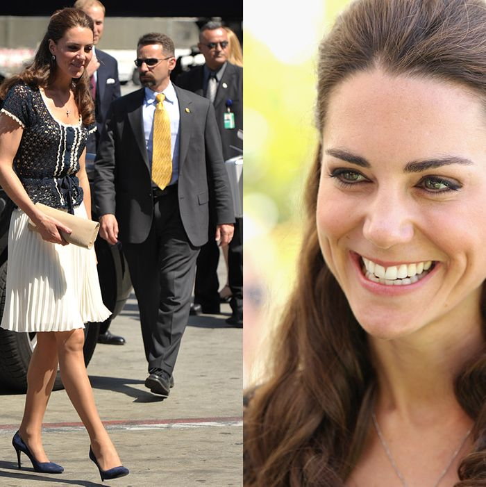 Kate Middleton wearing a look from Whistles in L.A.