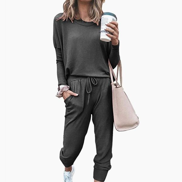 Meenew Women's 2 Piece Sport Outfits Long Sleeve Tops and Pants Set