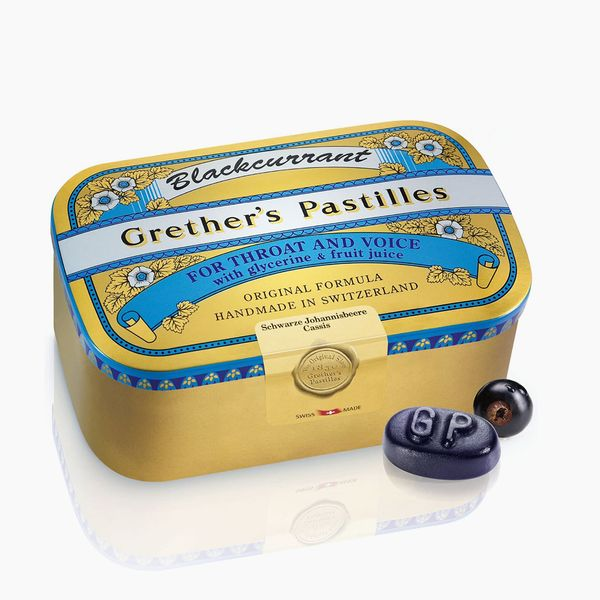 Grether's Pastilles Original Formula for Dry Mouth and Sore Throat Relief, Blackcurrant