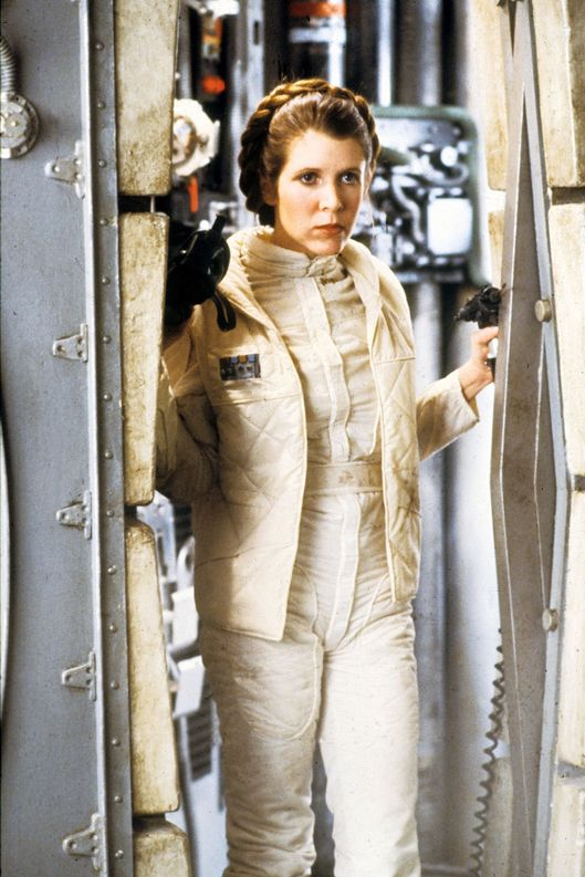 STAR WARS EPISODE V - THE EMPIRE STRIKES BACK US 1980 CARRIE FISHER as Princess Leia STAR WARS EPISODE V - THE EMPIRE STRIKES BACK US 1980 CARRIE FISHER as Princess Leia Date 1980, , Photo by: Mary Evans/LUCASFILM/Ronald Grant/Everett Collection(10358540)