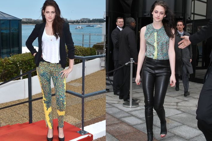 Kristen Stewart's Balenciaga pants.