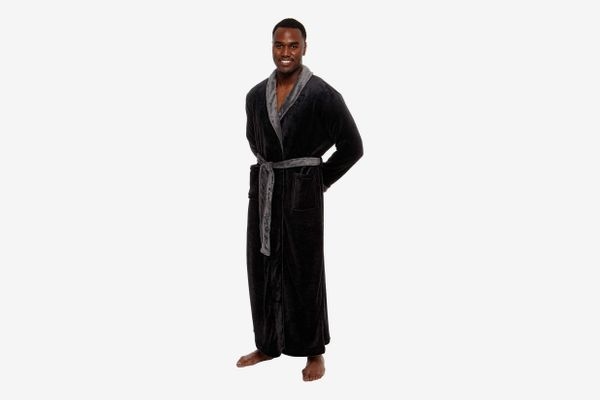 Ross Michaels Men's Big and Tall Full Length Long Bathrobe
