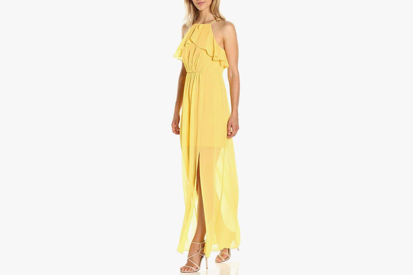 BCBGeneration Cascade Ruffle Dress