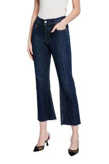 E.L.V Denim The Flare Kick Crop Jeans