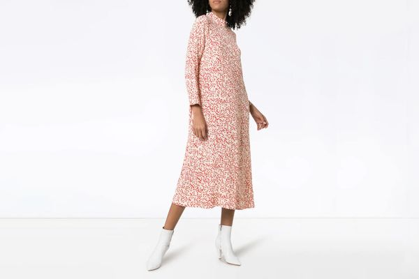 Ganni Goldstone Floral Print Dress