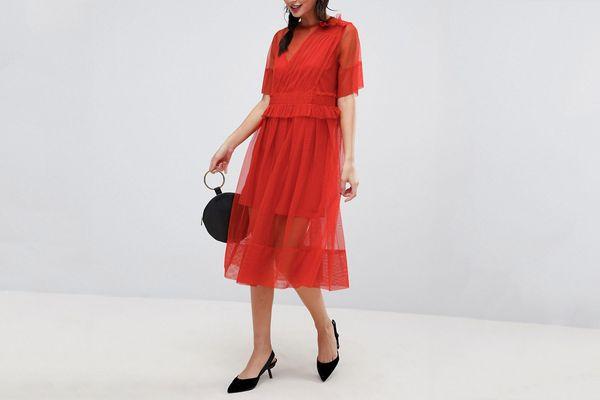 ASOS Tulle Midi Dress