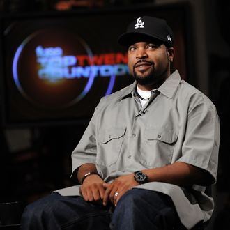 NEW YORK - AUGUST 18: Hip-Hop Artist Ice Cube visits fuse Studios on August 18, 2010 in New York City to tape an episode of