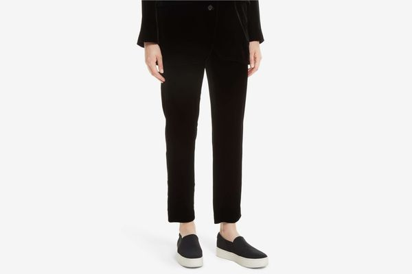 Vince Single Pleat Pull-On Trousers