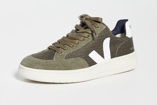 Veja V-12 Sneakers — Olive/White