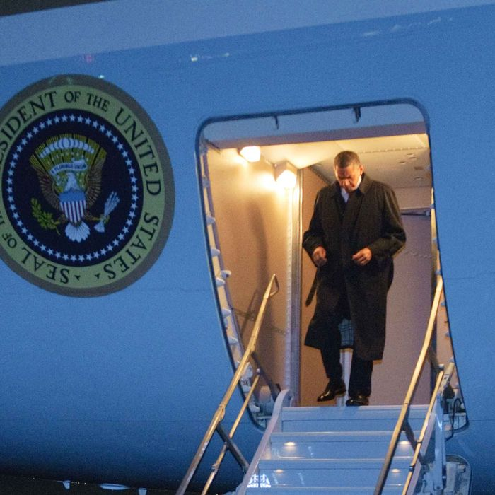 US President Barack Obama is steps off Air Force One May 1, 2012 upon arrival at Bagram Air Field, some 50km north of Kabul, in Afghanistan. Obama arrived in Afghanistan for a previously unannounced visit.