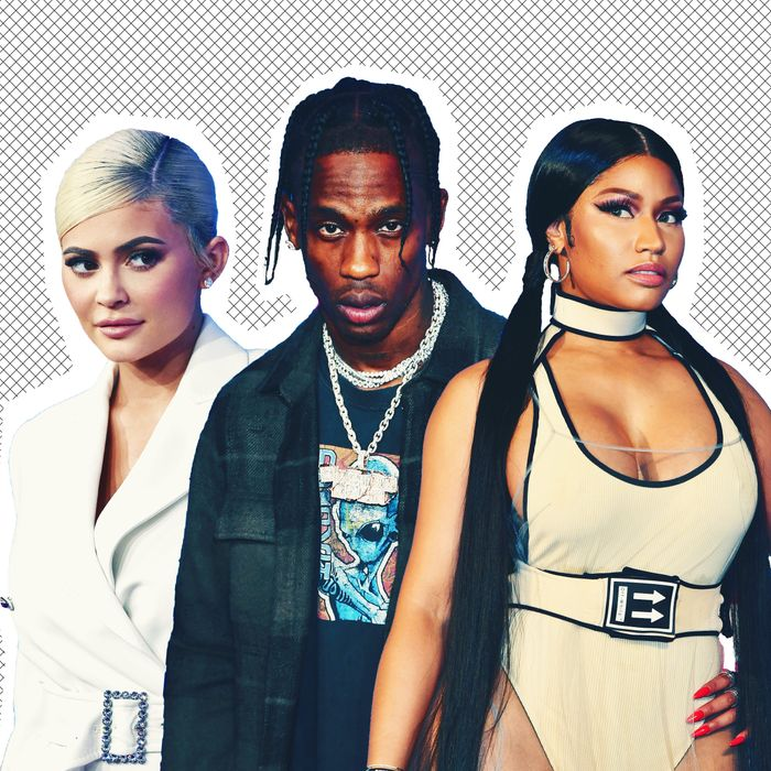 Kylie Jenner, Travis Scott, Nicki Minaj.