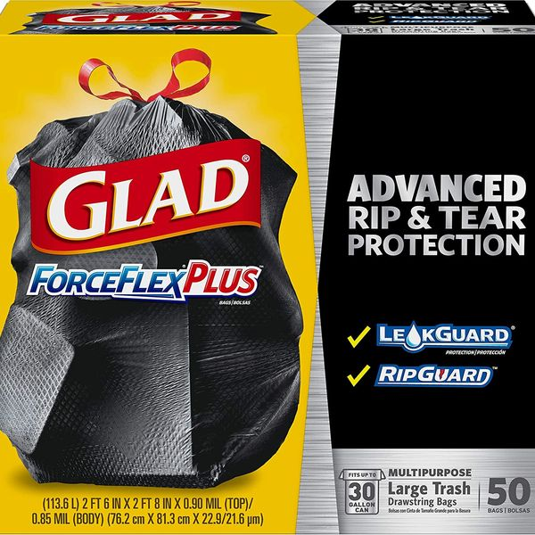 Glad ForceFlexPlus Drawstring Large Trash Bags, 50-Count