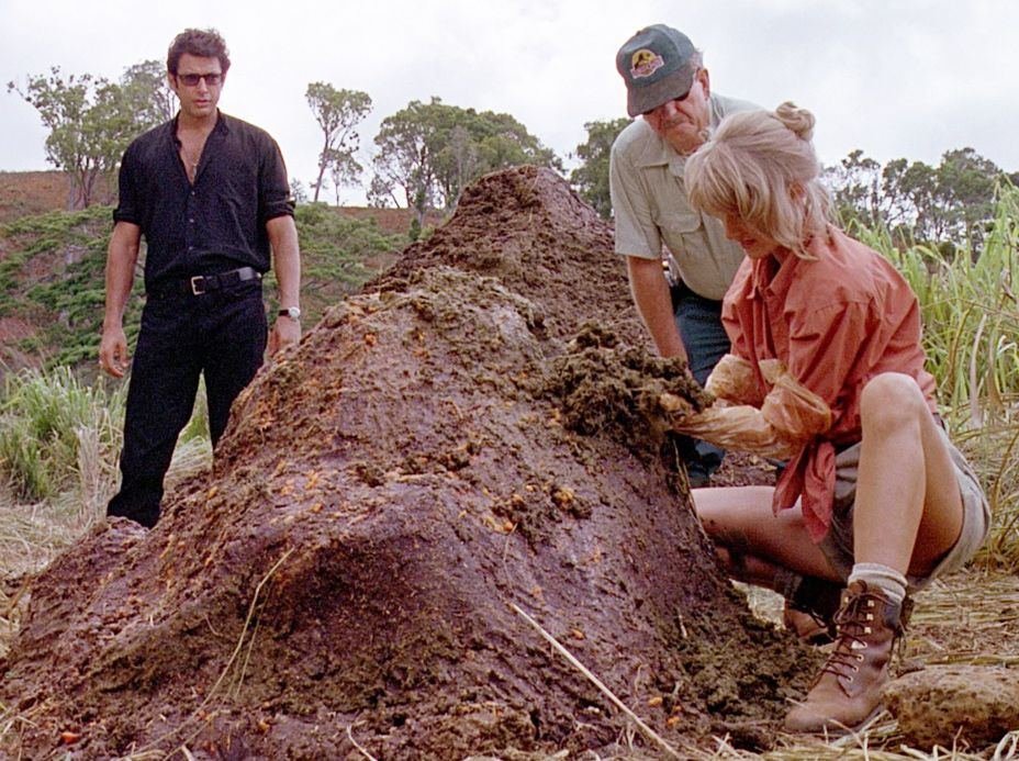 Laura Dern getting down and dirty in Jurassic Park
