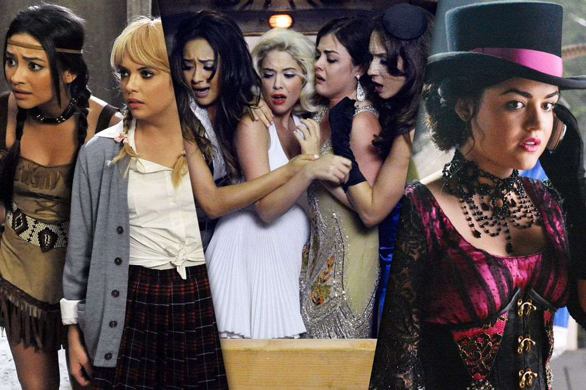 the 43 weird no good very bad things that happen during pretty little liars halloween episodes - Pretty Little Liars First Halloween Episode
