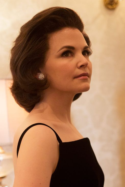 First look of Ginnifer Goodwin as First Lady Jacqueline Kennedy on the set of National Geographic Channel's KILLING KENNEDY, which started production this week in Richmond, Va. Nat Geo will air the television event this November.photo credit:  National Geographic Channels/Kent Eanes
