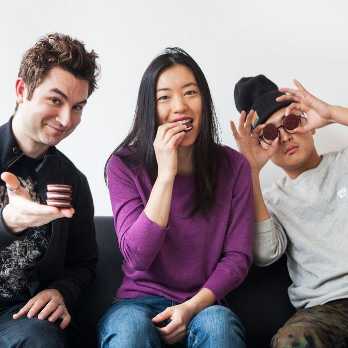 The esteemed judges: Alex Stupak, Jen Yee, and David Yoo.