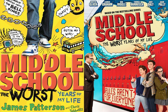 Middle School Book Cover : Book to film adaptations still come in