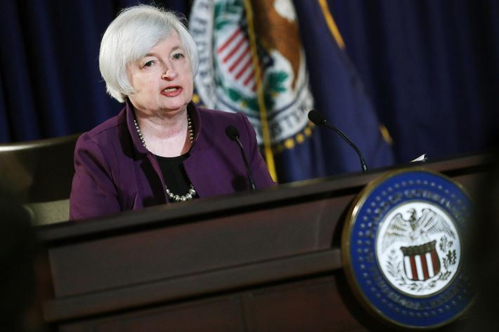 Fed Chair Janet Yellen Holds News Conference Following Federal Reserve Policy Meetings