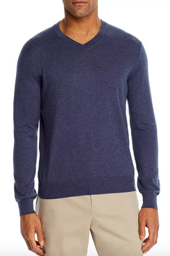 Bloomingdale's The Men's Store V-Neck Cotton-Cashmere Sweater