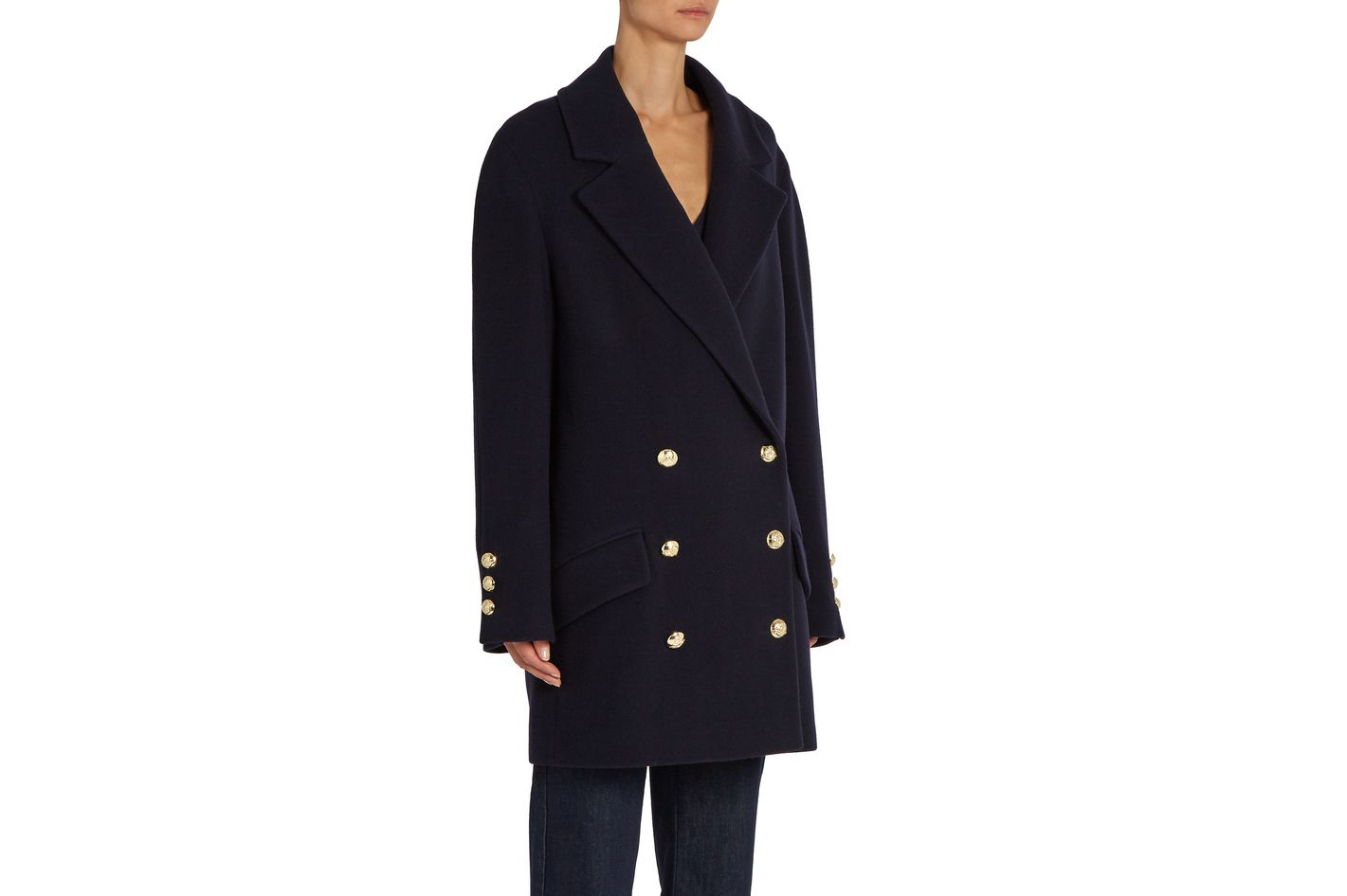 Raey Double-breasted Wool and Cashmere-blend Coat