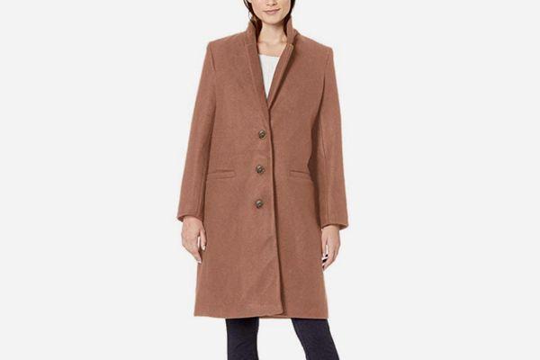 Plush Button-Front Coat