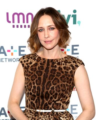 NEW YORK, NY - MAY 08: Actress Vera Farmiga attends the 2014 A+E Networks Upfront at Park Avenue Armory on May 8, 2014 in New York City. (Photo by Paul Zimmerman/WireImage)