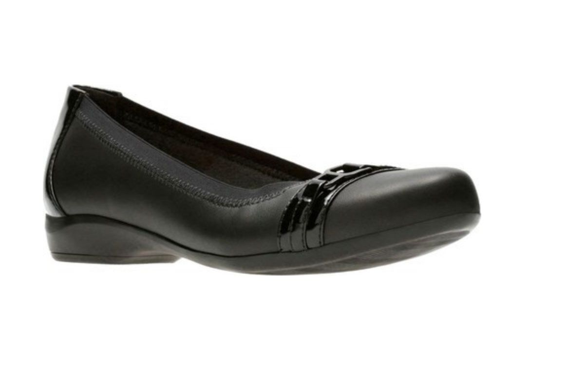 leather ballerina comfortable faux work for ballerinas p in black heel low shoes duty missy comforter