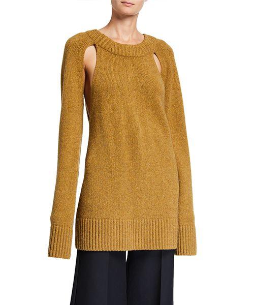 Liz Cashmere Cutout Sweater