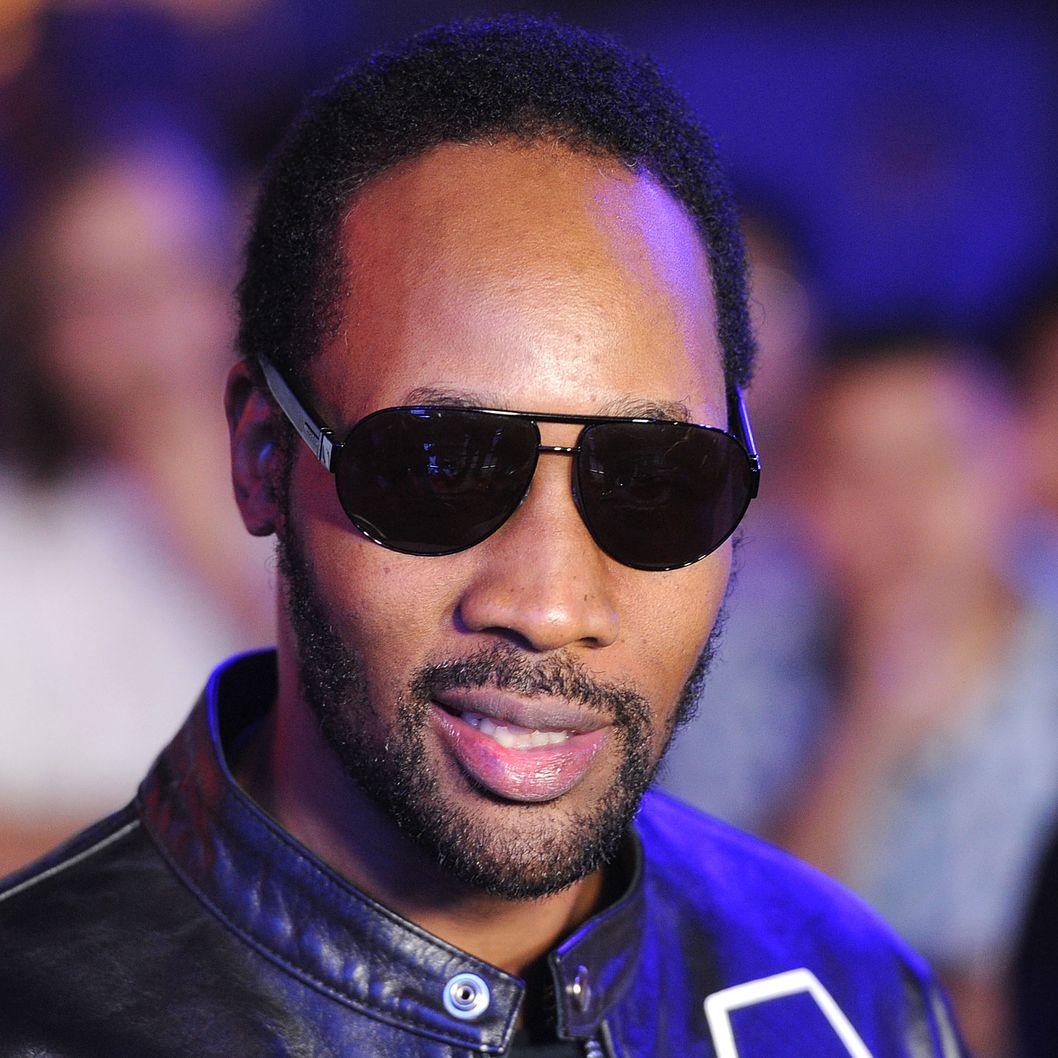 "UNIVERSAL CITY, CA - OCTOBER 10:  Producer RZA arrives at the premiere of Universal Pictures' ""The Thing"" on October 10, 2011 in Universal City, California.  (Photo by Jason Merritt/Getty Images)"