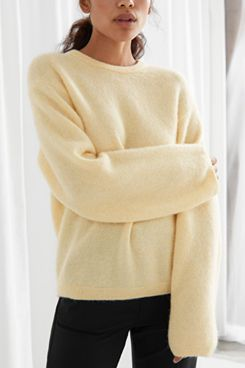 & Other Stories Fuzzy Wool Blend Sweater